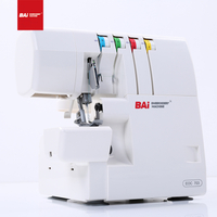 BAI Factory Price Mini Overlock Sewing Machine Single/double Needles for 3/4 Threads/cover Stitch