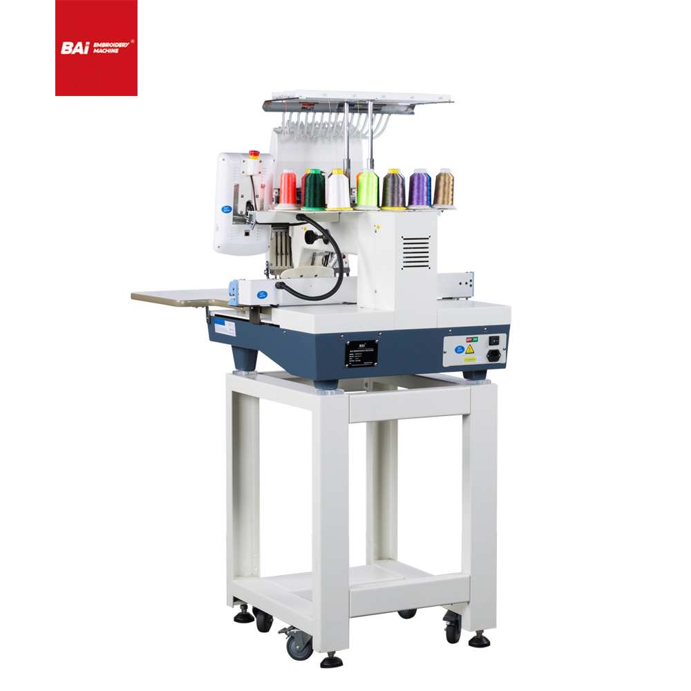 BAI Single Head Multifunctional Computerized Embroidery Machine with 350*500mm Area