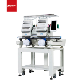BAI 450*500mm Two Head Computerized Hat Garment Embroidery Machine for House And Studio Use