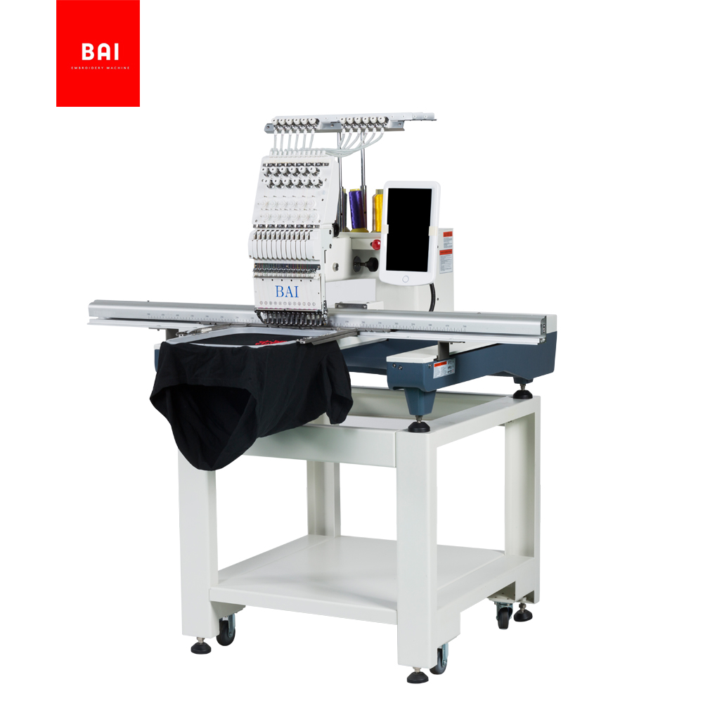 BAI High speed 12 color computer control latest embroidery machine with 500*1200 area