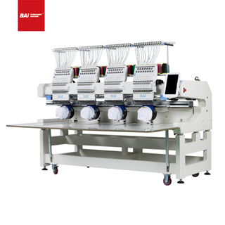 BAI High Effciency 12 Needles 4 Heads T-shirt Garments Flat Embroidery Machine with Good Price
