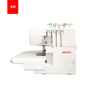 BAI Factory price mini overlock sewing machine single/double needles 3/4 threads/cover stitch