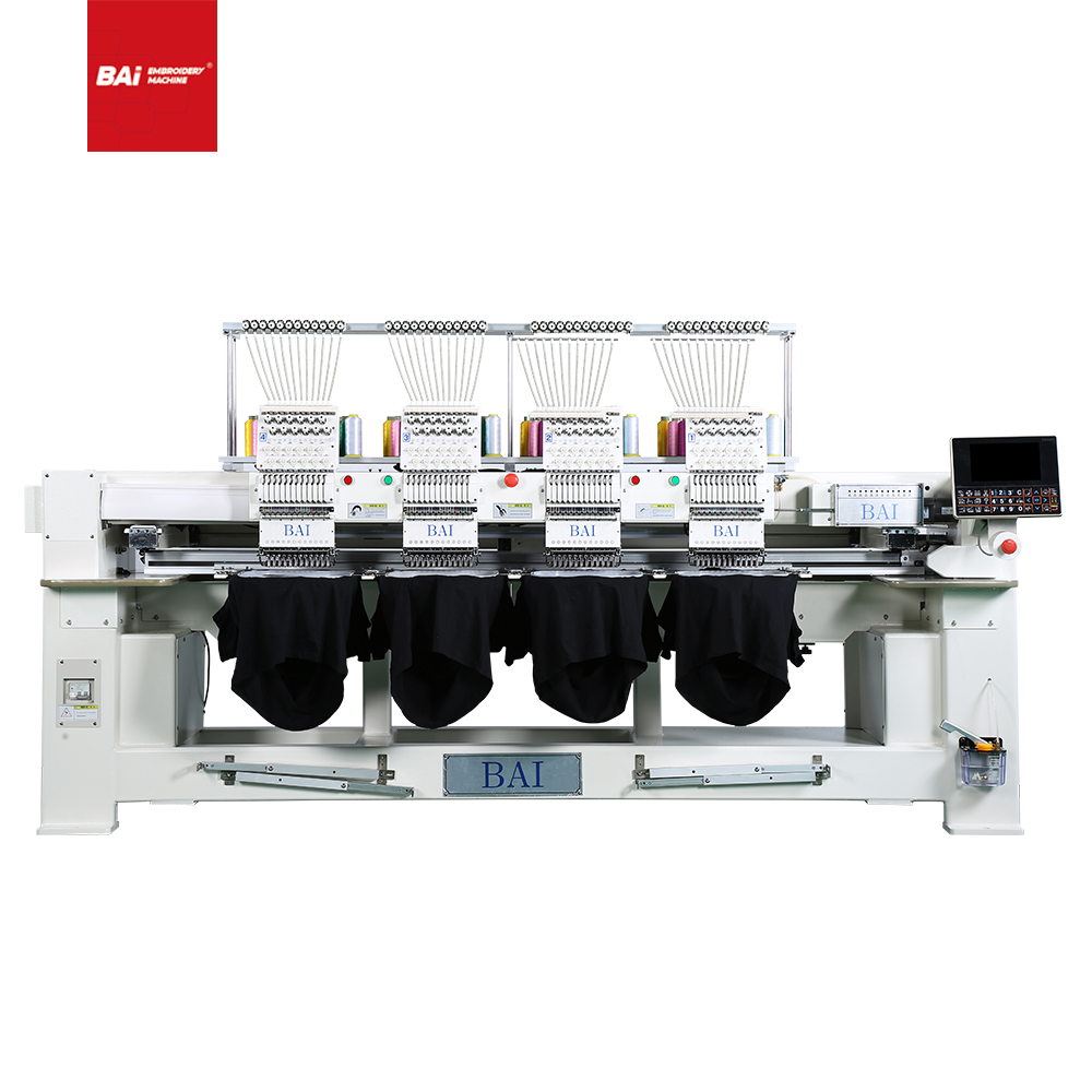 BAI 1200rpm 12 Colors DAHAO Computerized Embroidery Machine 4 Heads for Cloth Hats