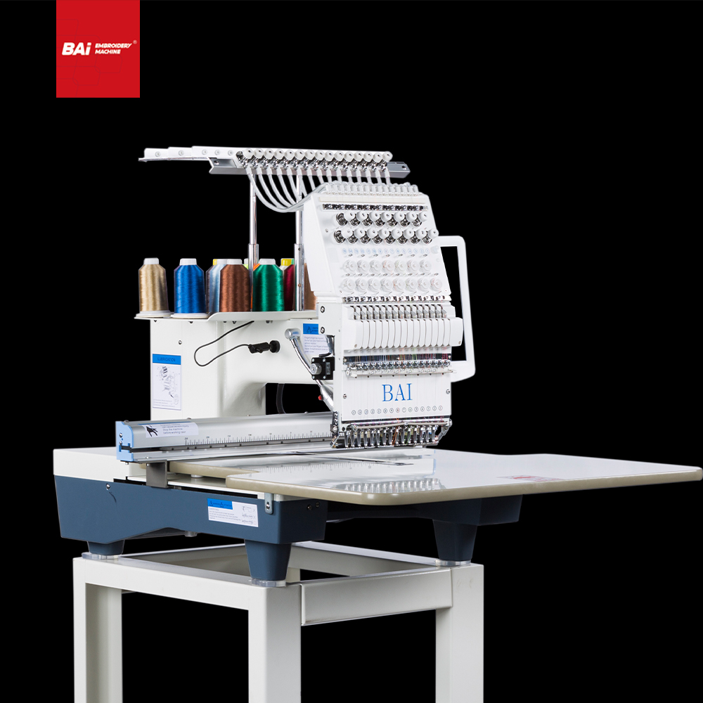 BAI Industrial Single Head Computer Cap Embroidery Machine with High Efficiency