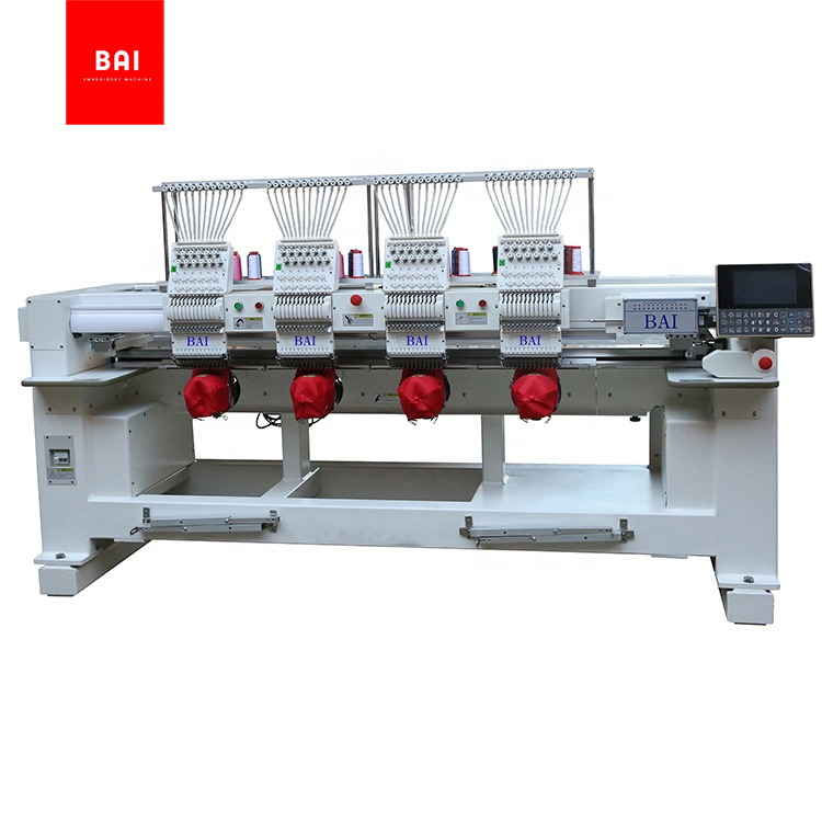 TOP Quality And High Speed 4 Heads 12 Needles Machine Embroidery 3d Flower Designs