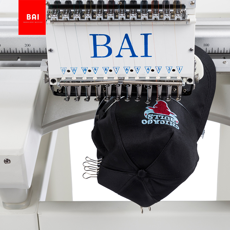 BAI High Effciency 12 Needles Shirt Garments Flat Embroidery Machine