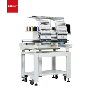 BAI Two Head 12 Colors And Needles Computerized Embroidery Machine for Flat Garment