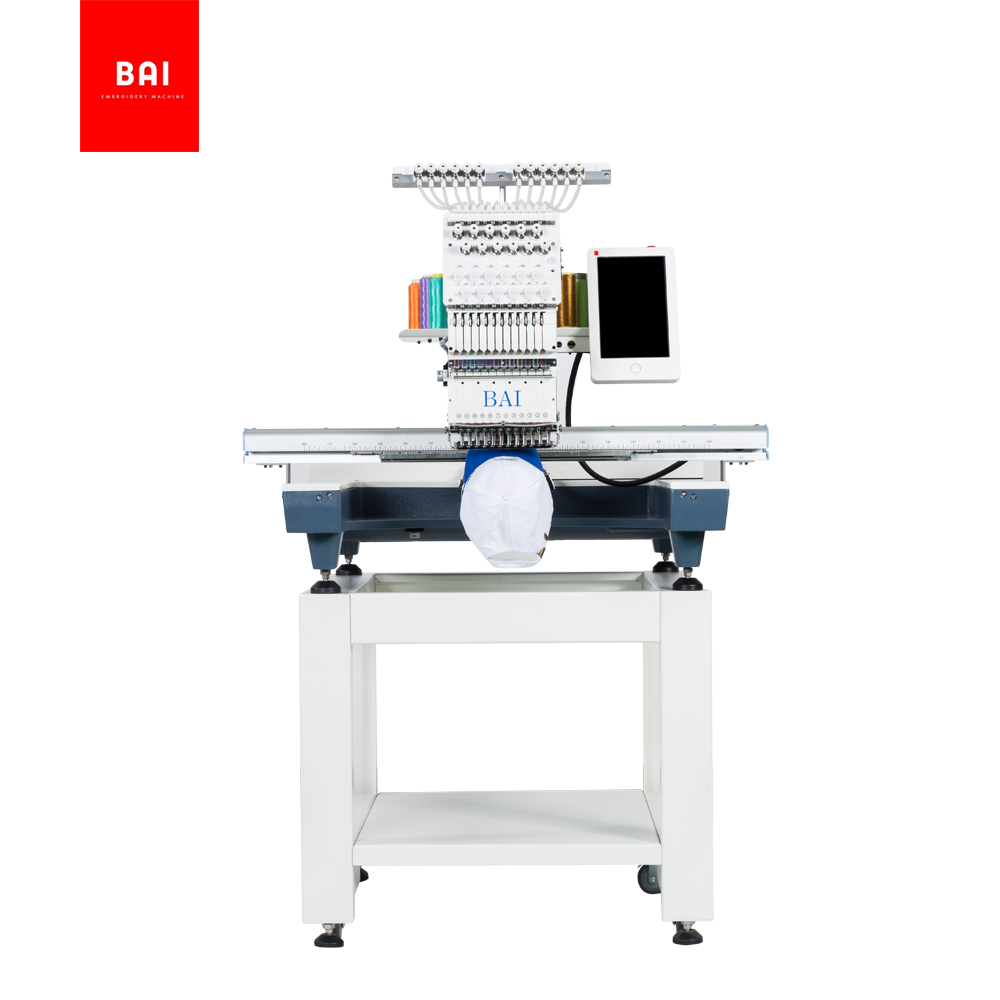 BAI Embroidery Area 500*800mm Computerized Flatbed T-shirt Hat Embroidery Machine