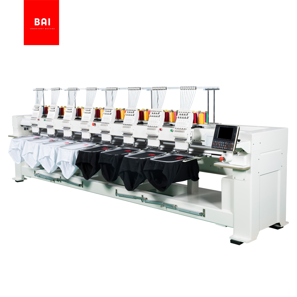 High Speed 8 Head Flat Embroidery Machine for Home Use