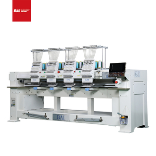 BAI Industrial T-shirt Hat Flat Computer 4 Heads Embroidery Machine for Garment