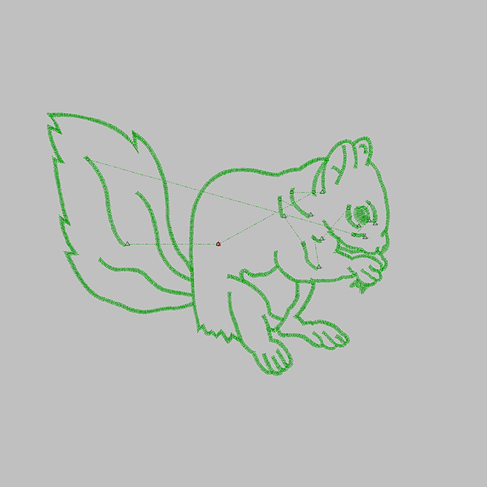 Super Cute Squirrel Embroidery The Latest Pattern Can Be Used on T-shirt Jeans