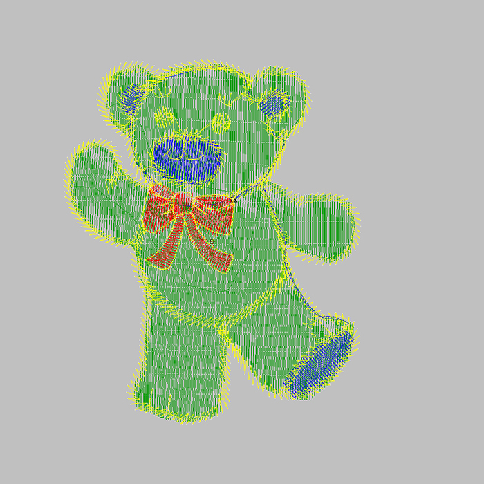 The latest brown bear embroidery pattern is used for sock embroidery