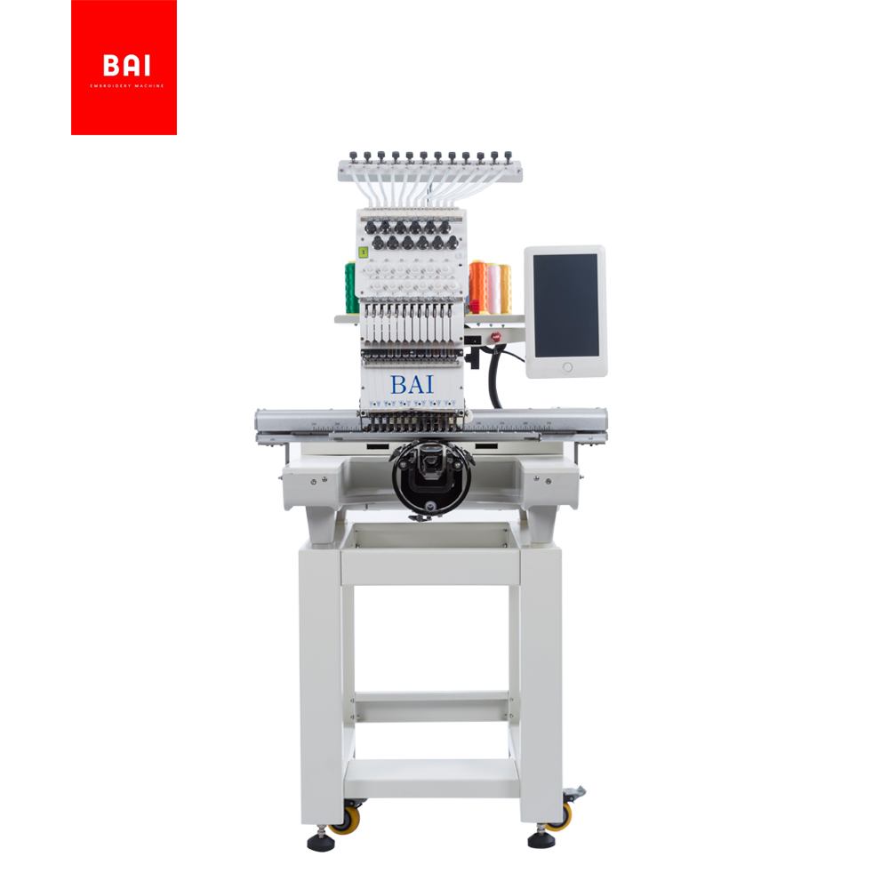 BAI High Quality Computerized Single Head 12 Needles Hat Embroidery Machine