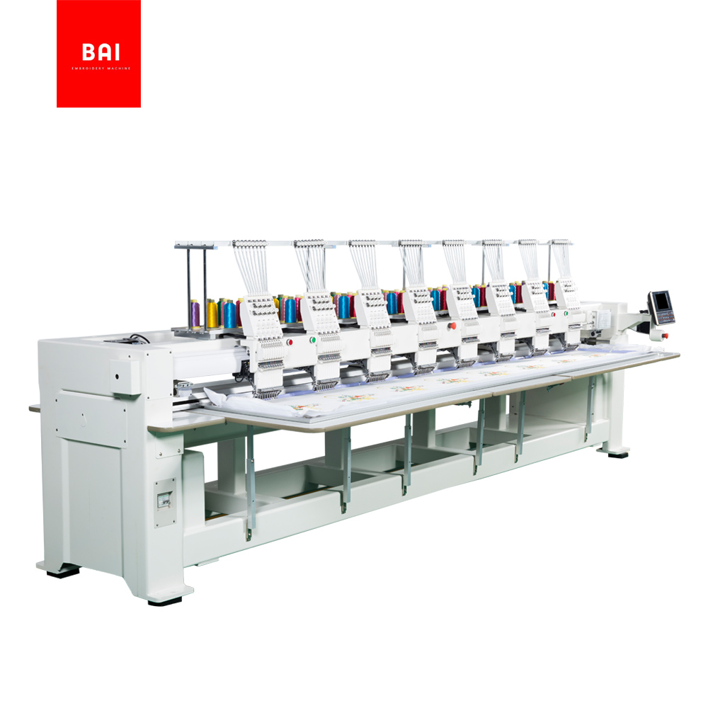 BAI Commercial 8 Head 9 Needle Computerized Hat T-shirt Embroidery Machine