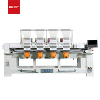 BAI High Speed 12 Color 4 Heads Computerized Garments for Hat T Shirt Flat Embroidery Machine