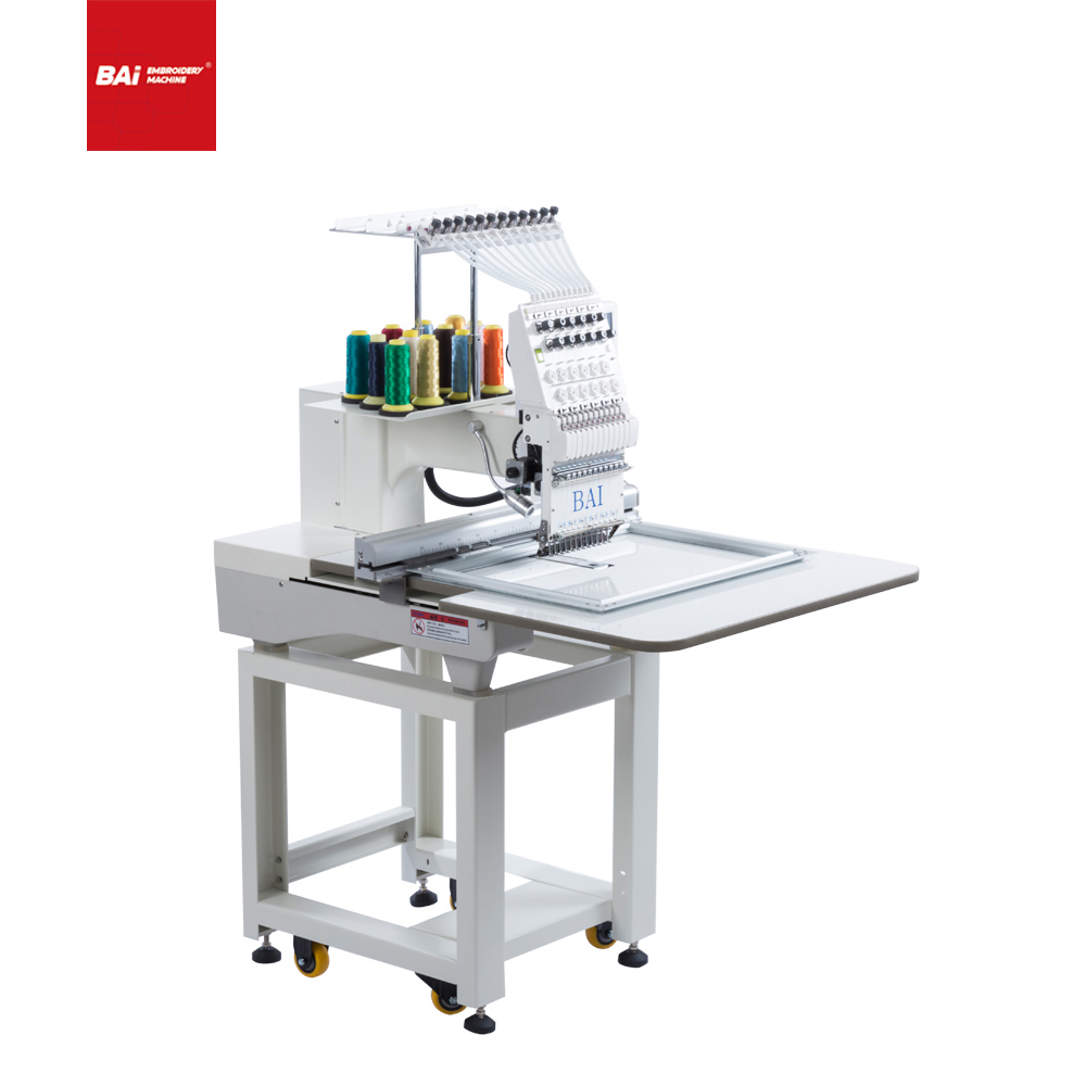 BAI Single Head Portable Small Embroidery Machine That Can Embroider Bags