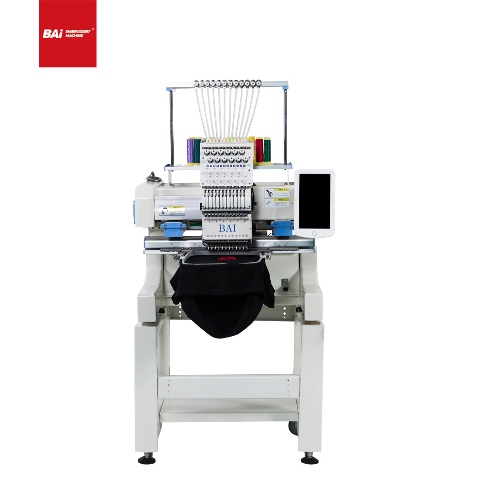 BAI High Speed Industrial Single Head Embroidery Machine Sale for Peru