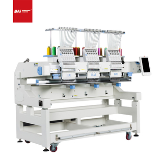 BAI High Speed Cap T-shirt Flat Computer Embroidery Machine with Automated Operation