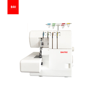 BAI high speed single double needles 2/3/4 threads cover stitch domestic overlock sewing machine