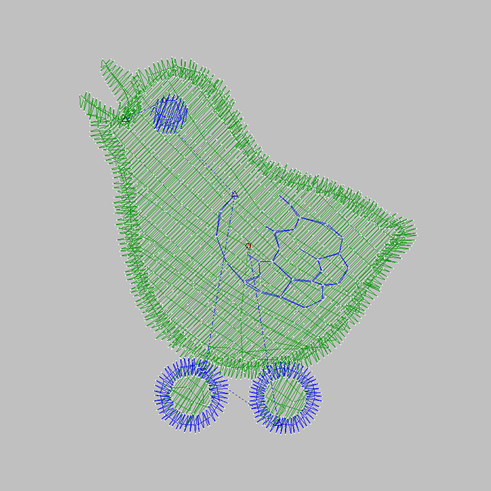 Free large area bird embroidery pattern