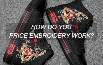 How do you price embroidery work?