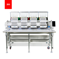 BAI DAHAO System 12 Needles 4 Head Computer Flat Hat Embroidery Machine
