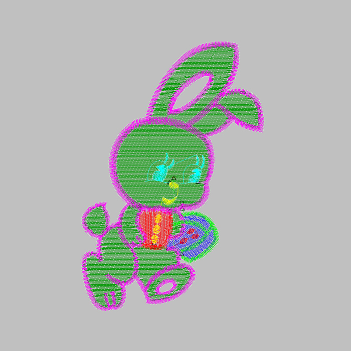 Cute bunny embroidery pattern for short sleeves