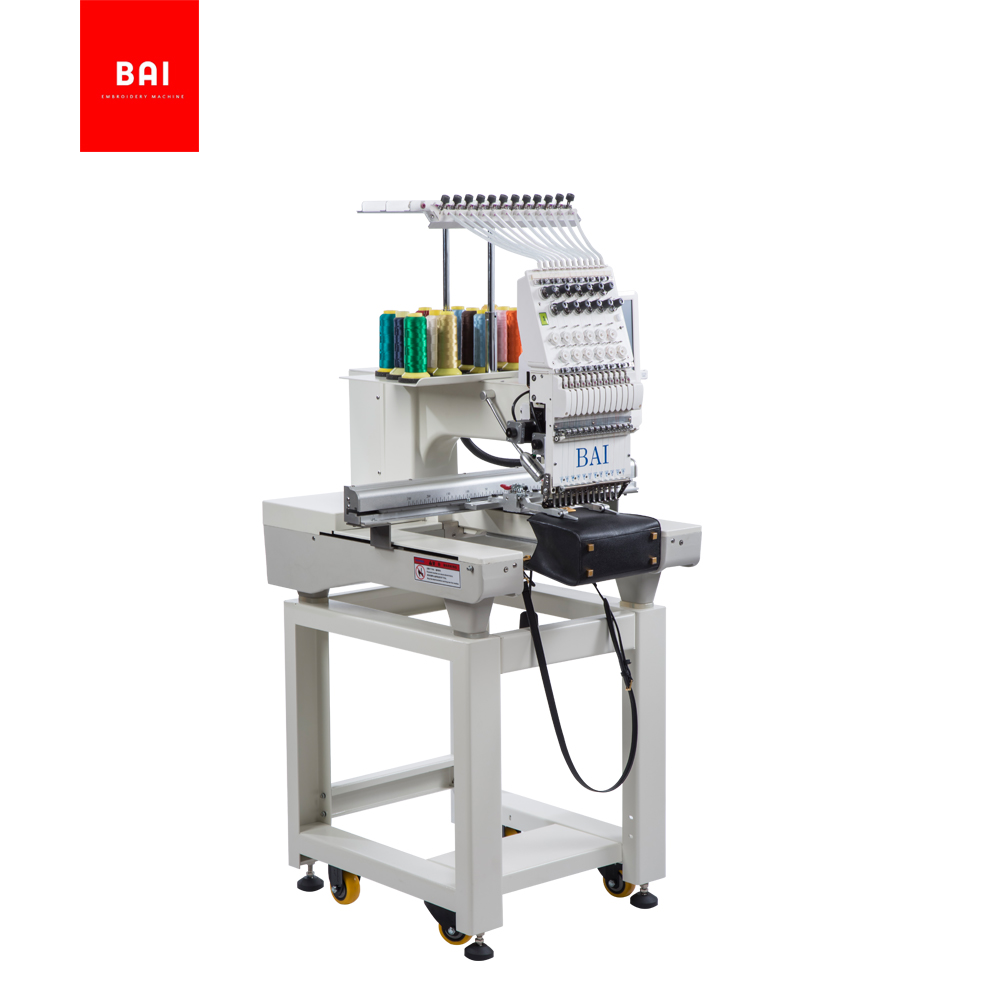 BAI brand high speed 1200 Rpm 12 Needles Computer Embroidery Machine for Design Shop