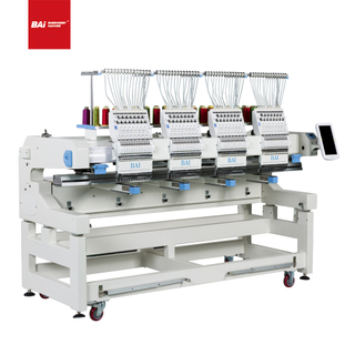 BAI 12 Needles 4 Head Computer Flat Hat Embroidery Machine with DAHAO System
