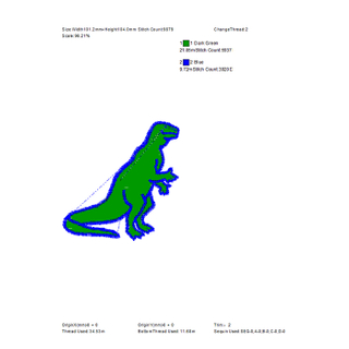 Cartoon Pattern Small Dinosaur Large Area Embroidery Can Be Used for Clothes And Hats