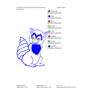 Free large area squirrel embroidery pattern for embroidered shirts