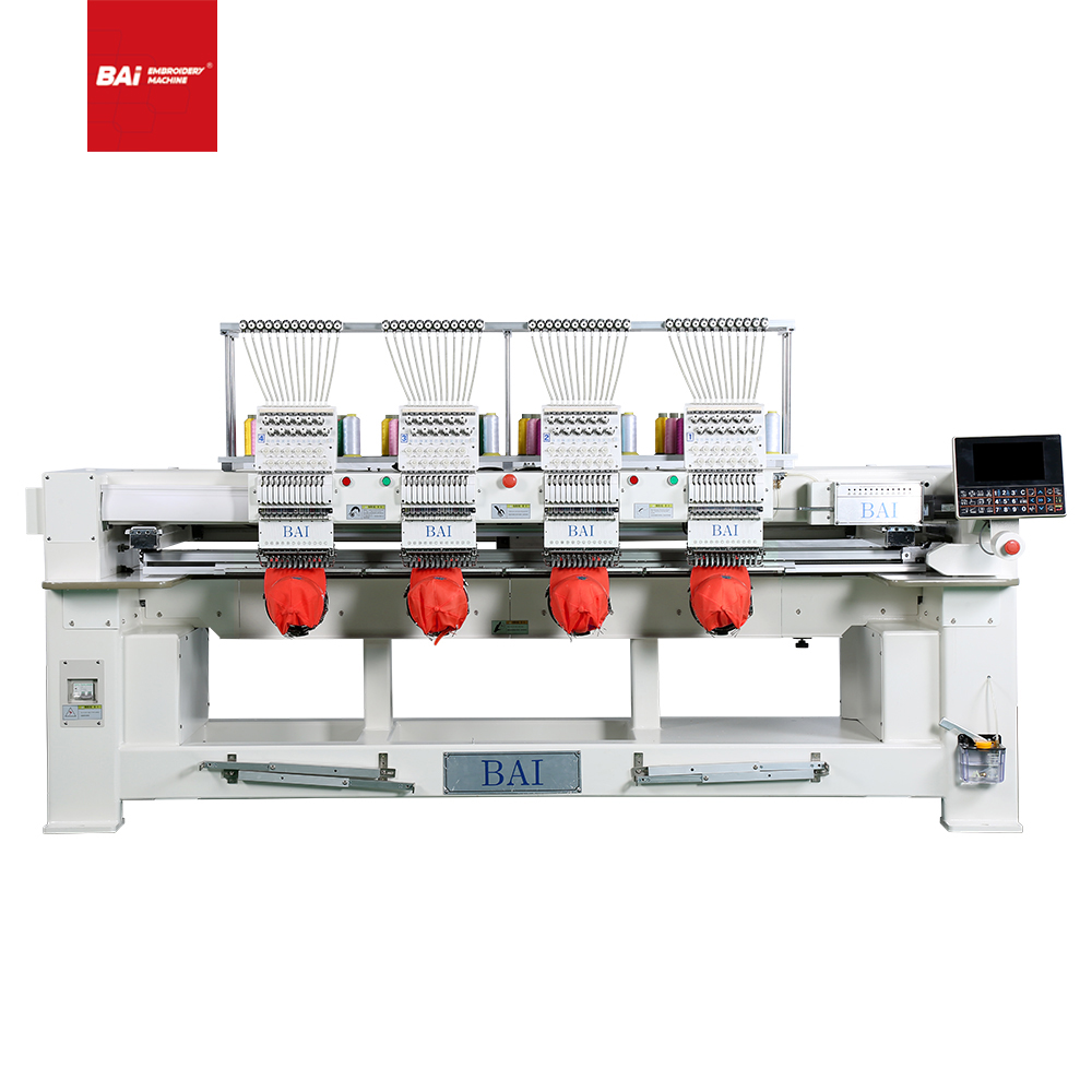 BAI Quality And High Speed 4 Heads 12 Needles Commercial Computer for Hat Embroidery Machine