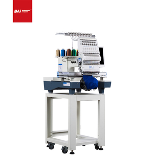 BAI Single Head Cap T-shirt Flat Computer Embroidery Machine with Automated Operation