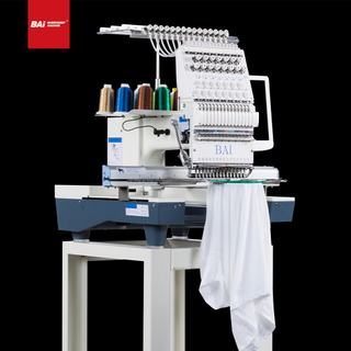 BAI Single Head Multifunctional Computerized Embroidery Machine That Can Embroider Shoes Cap T-shirt