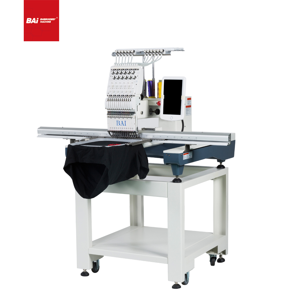 BAI Computerized Cap T-shirt Embroidery Machine with 500*1200 Big Area