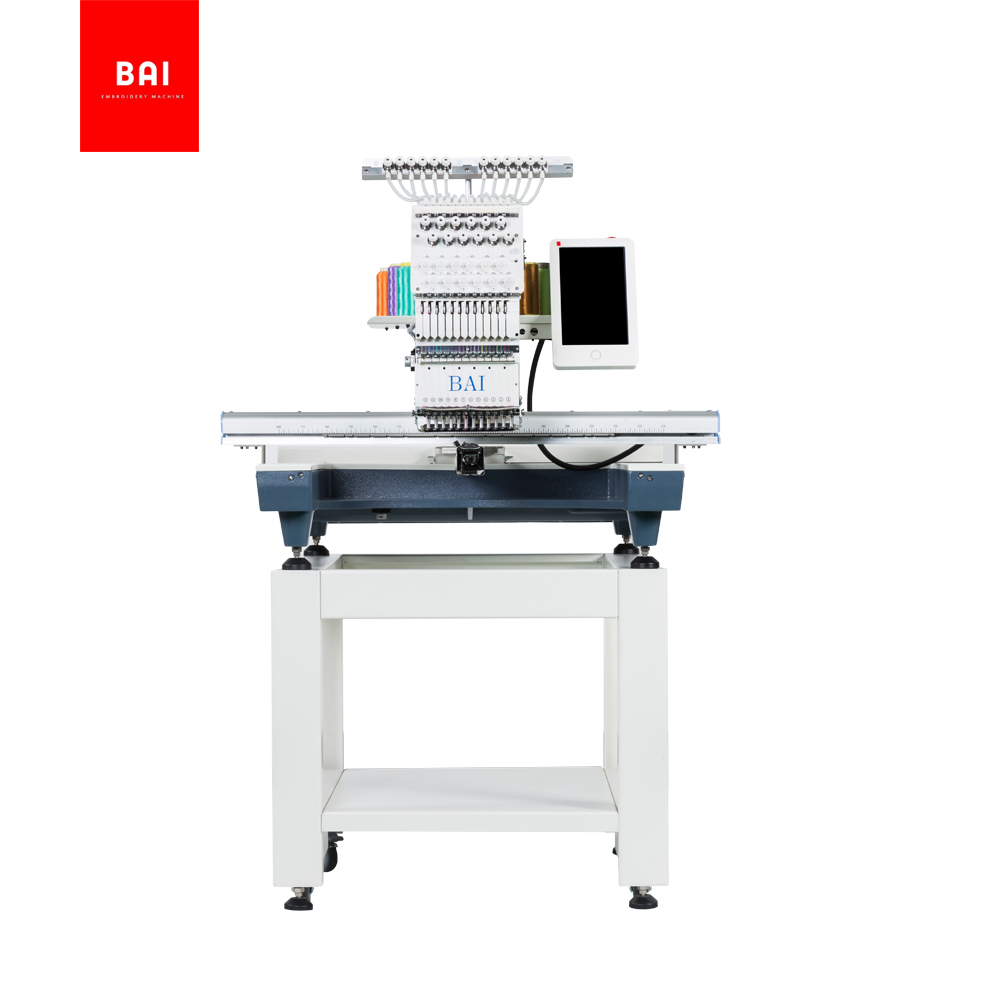 BAI Computerized Operation 500*800mm Big Area Flatbed Embroidery Machine for Small Business