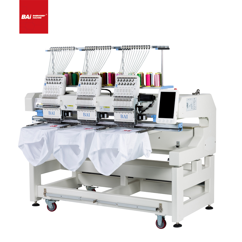 BAI High Quality Cap T-shirt Flat Embroidery Machine with Latest Technology