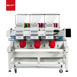 BAI Multi Head 12 Needles High Speed Computerized Embroidery Machine for Cap Shoe T-shirt