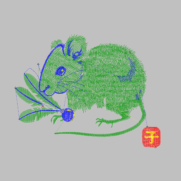 The Latest Fashion Mouse Large Area Embroidery Can Be Used for Jeans And Jeans