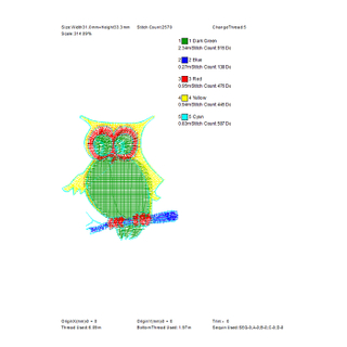 The most popular owl embroidery pattern is used for towel embroidery