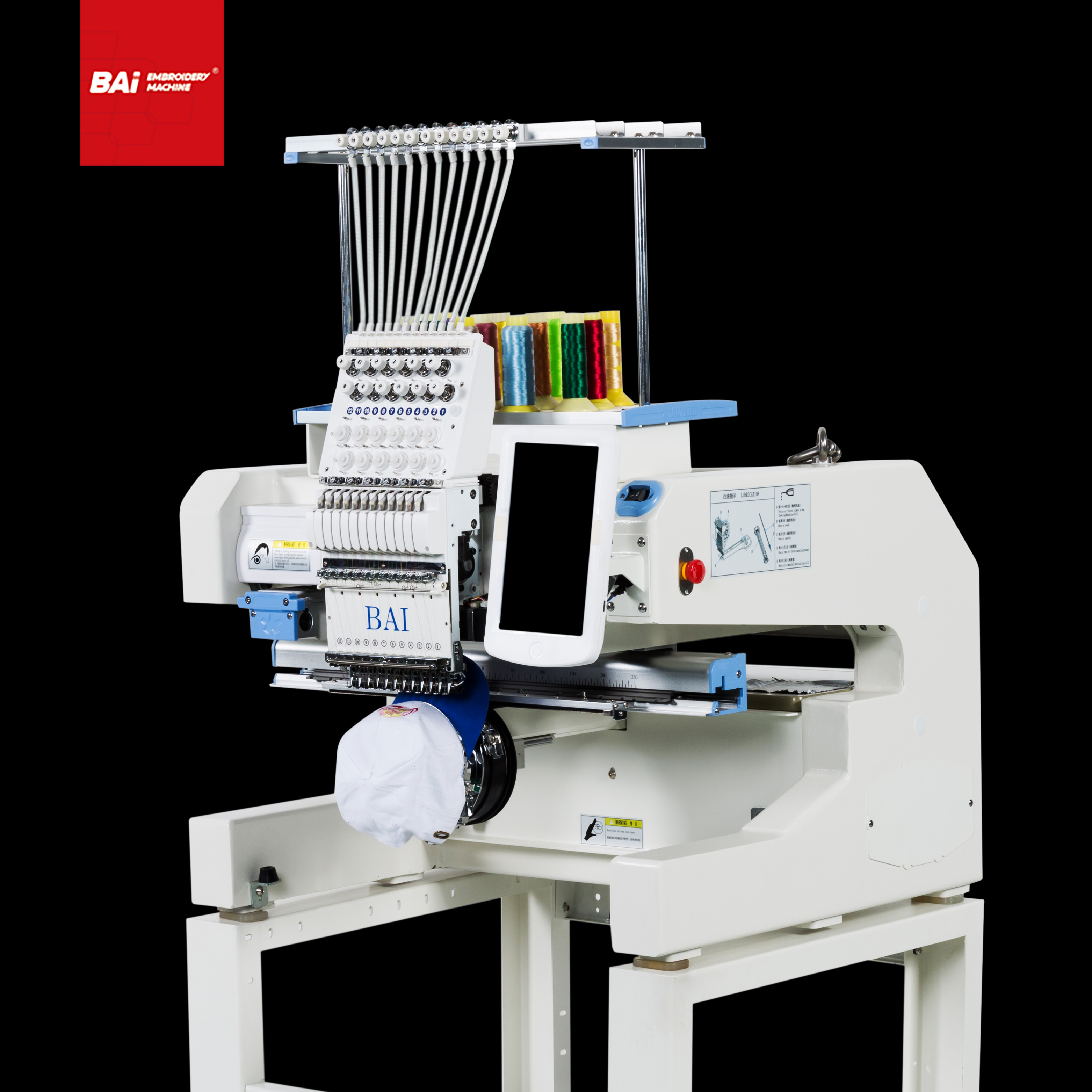 BAI Small Embroidery Machine for Commercial with Twelve Needles