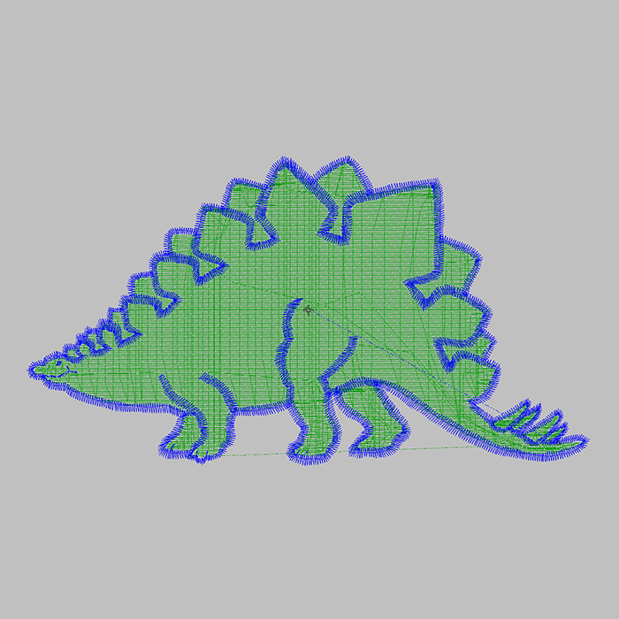 The Most Popular Children's Embroidery Pattern Small Dinosaur Large Area Embroidery