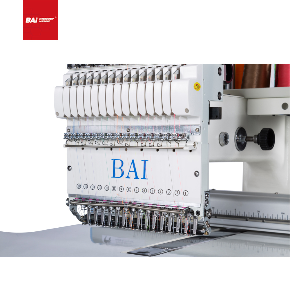 BAI Typical Single Head Home Computerized Embroidery Machine for Cap T-shirt Flat