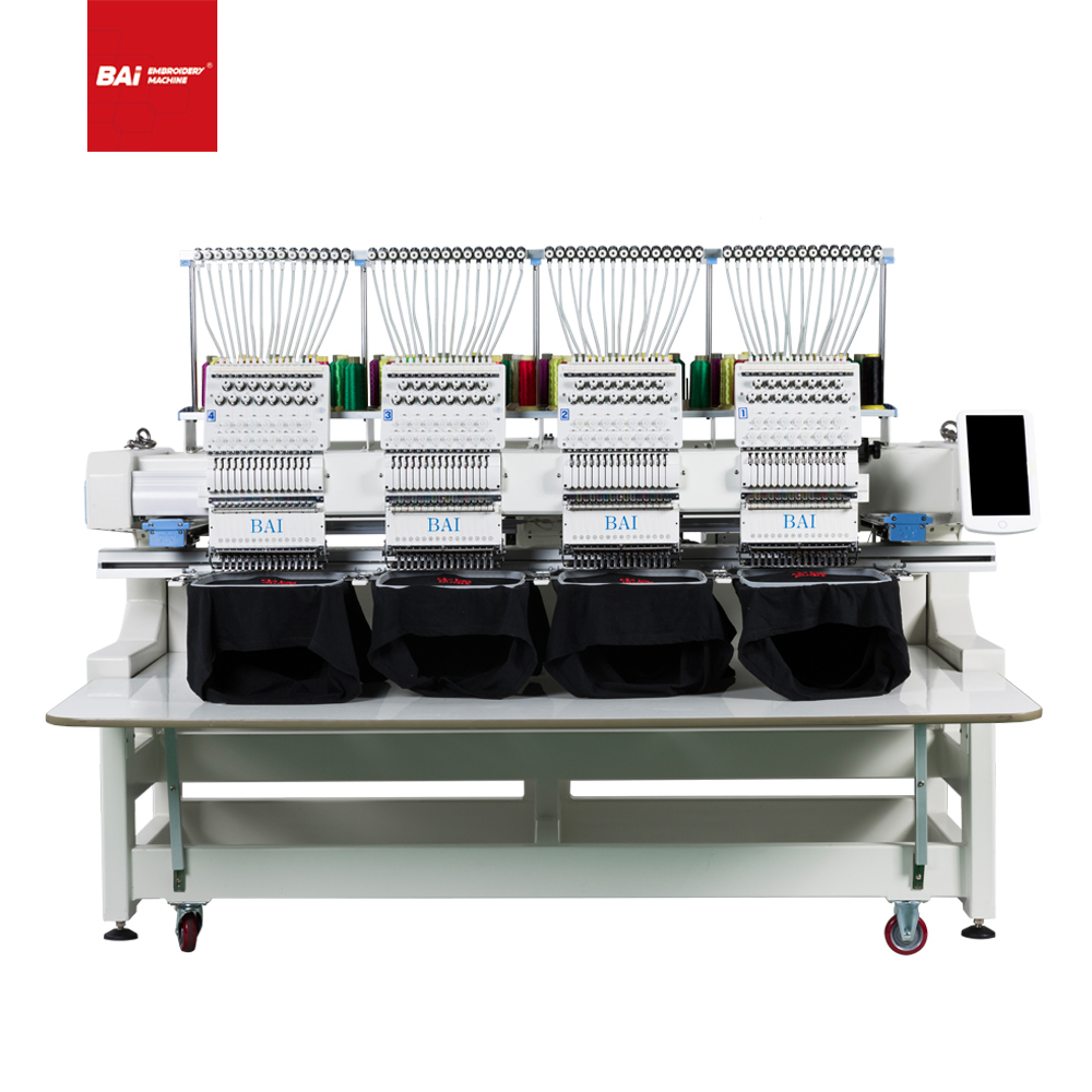 BAI Best Selling Four Heads Cap T-shirt Flat Embroidery Machine That Popular in US
